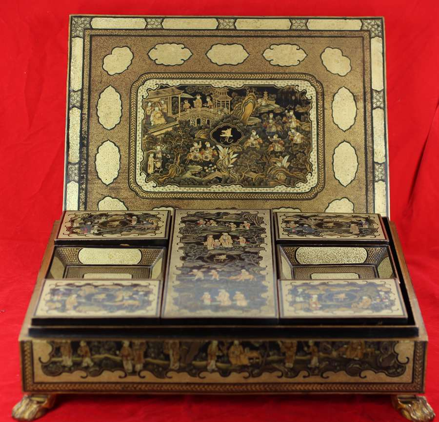 Lacquer and mother-of-pearl boxes for sale