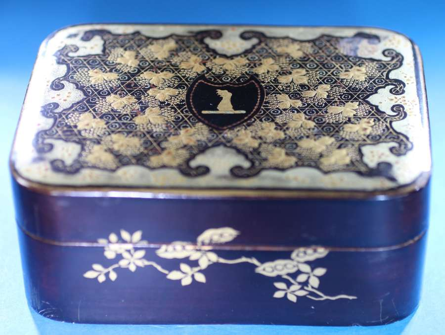 Interior lacquer boxes and matching counters