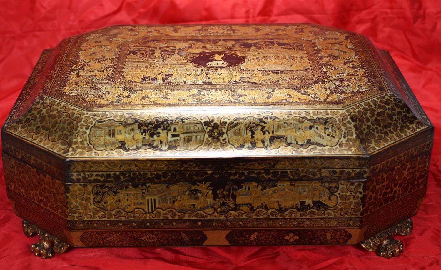 Armorial box and 88 counters for HEARING