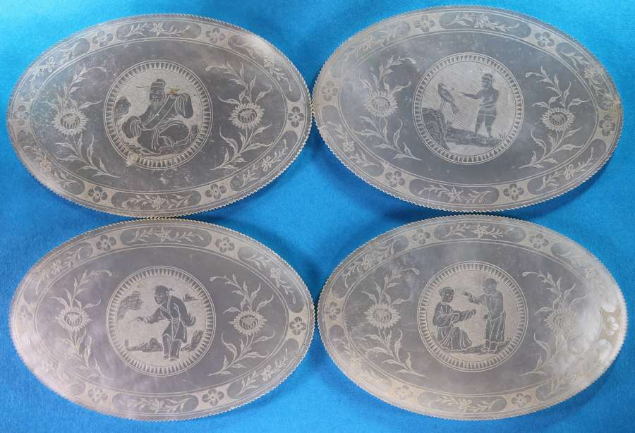 Group of 4 super large ovals