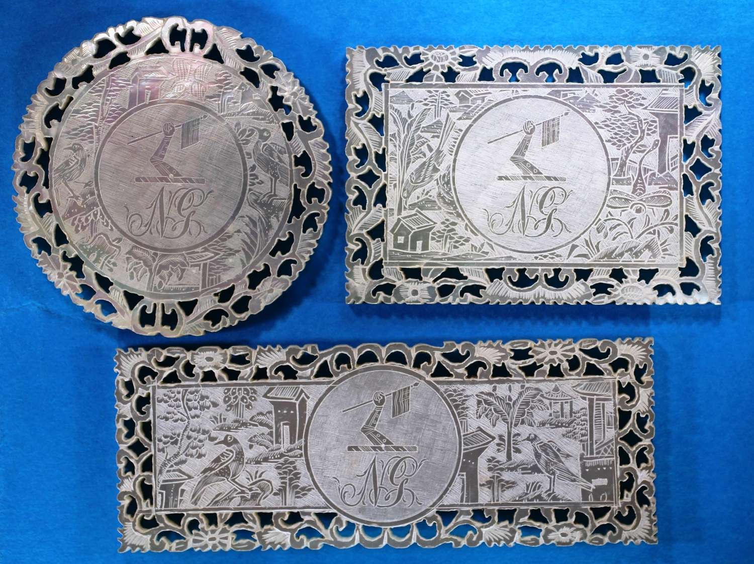 Set of three for GOULD boatowner and captain of the East India Company