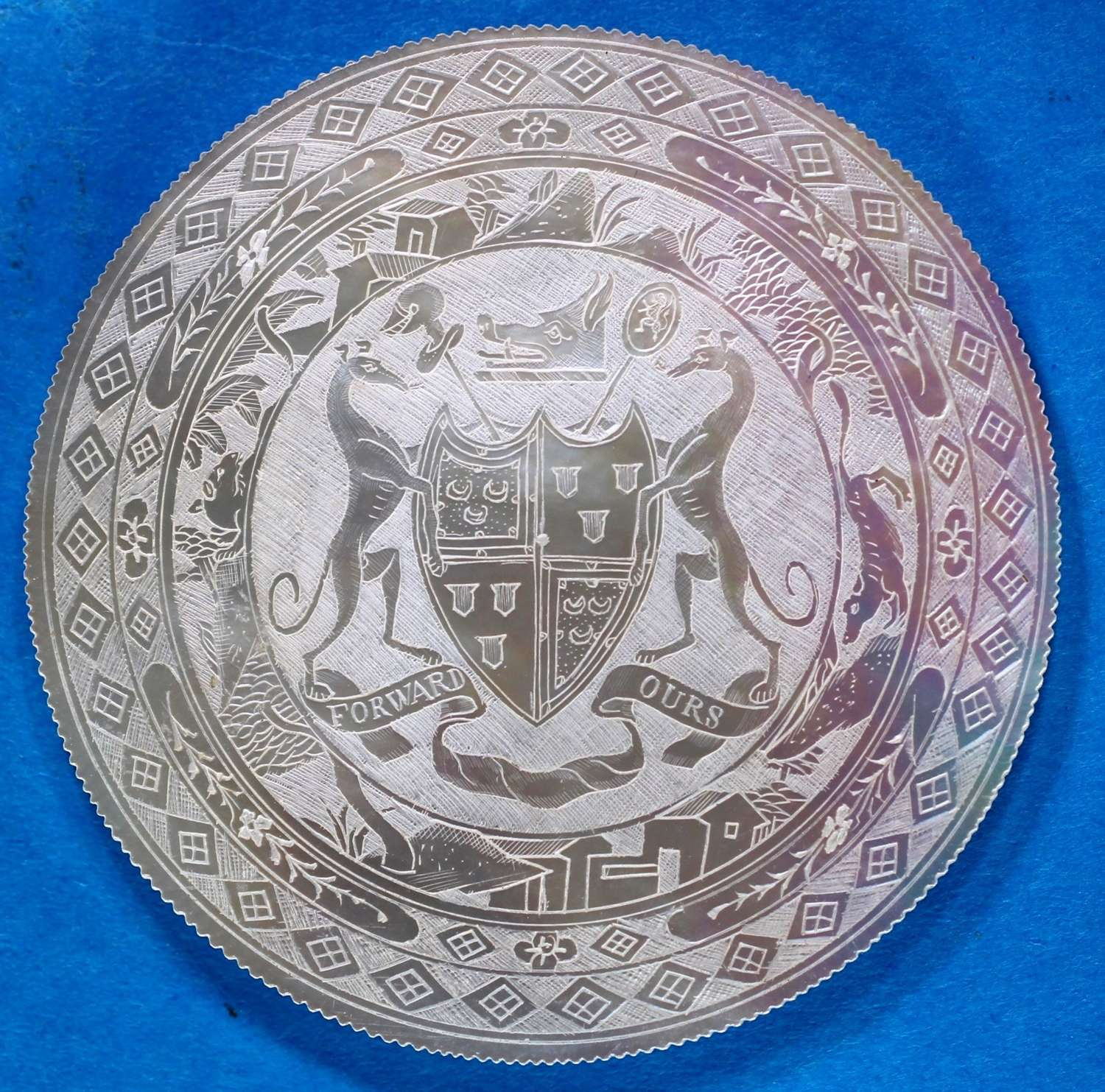 Superb armorial for Lord SETON of TOUCH