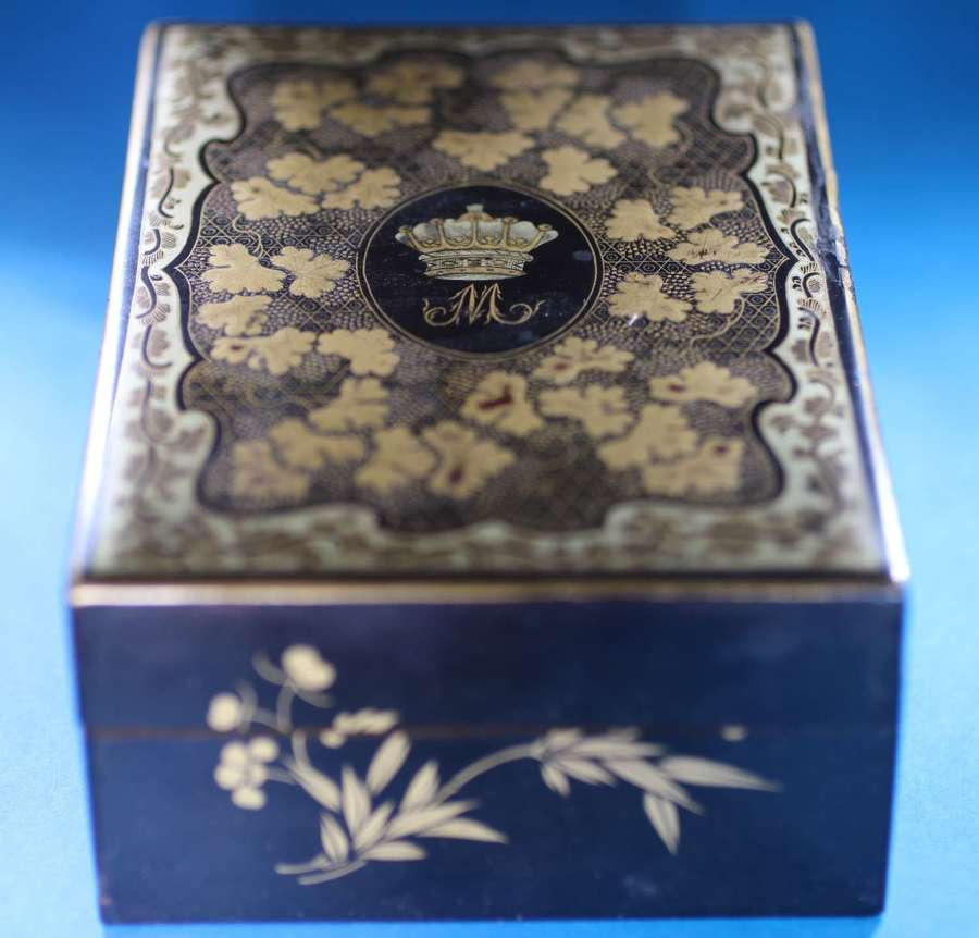 Box and set of  seven counters for MURRAY EARL OF MANSFIELD